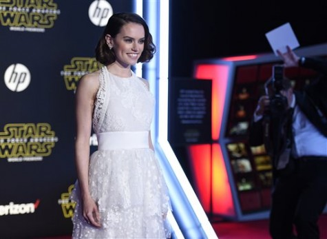 Daisy Ridley arrives at the world premiere of