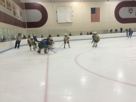 Apple Valley on defense in the third period
