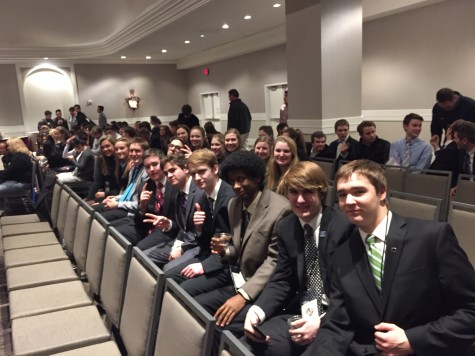 Apple Valley DECA chapter at their district competition on January 8th