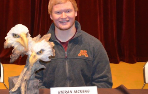 Kieran McKeag being honored on the NCAA national letter of intent signing day on February 3rd.