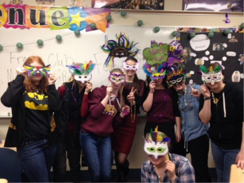 AVHS French students celebrate Mardi Gras on February 9th.