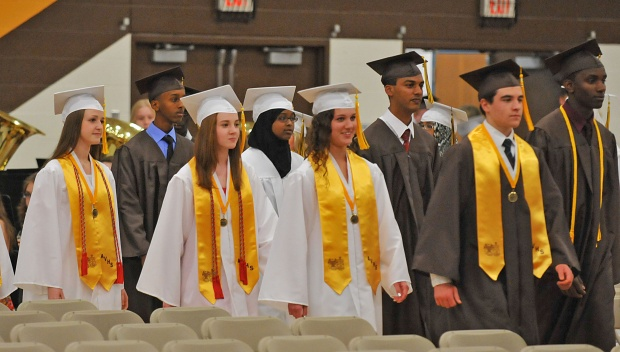 AVHS students at their graduation in 2013