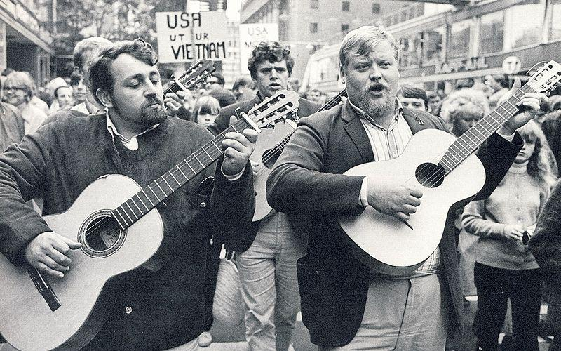 Performing during marches has been a popular method of protest in the past.