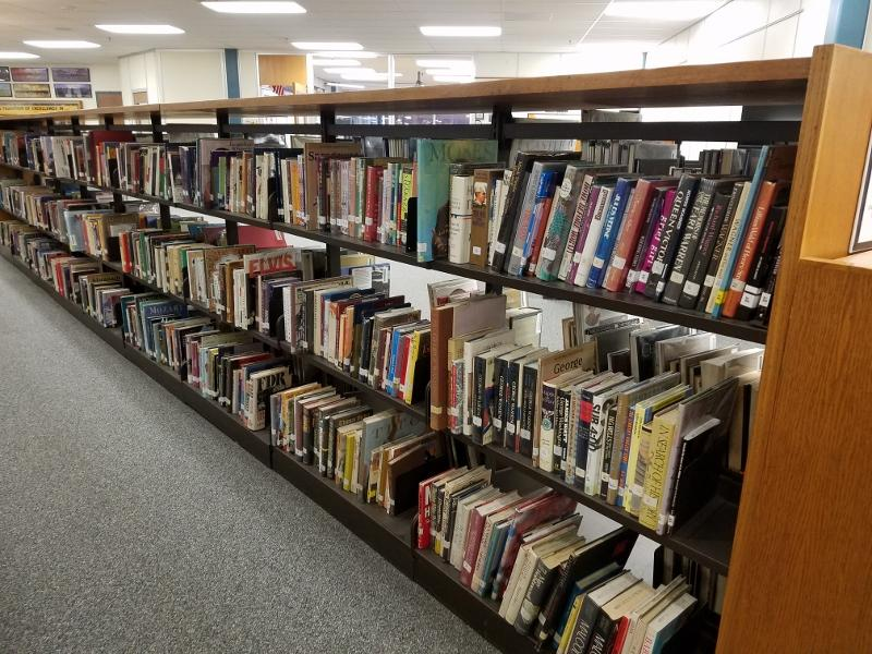 Apple Valley Media Center's print resources on display