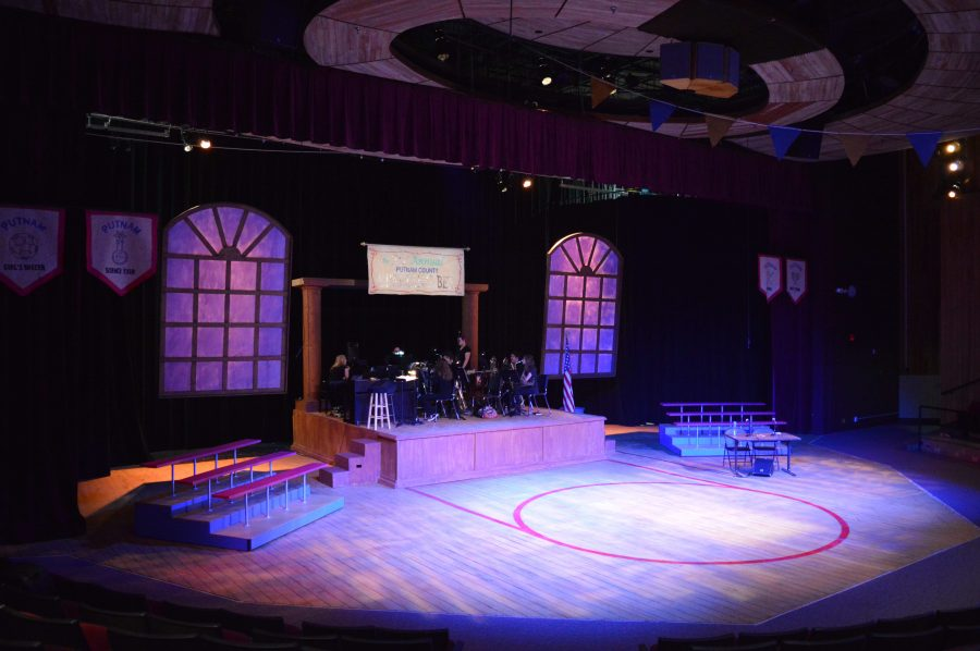 The set for The 25th Annual Putnam County Spelling Bee