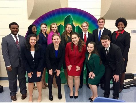 Apple Valley speech competitors at their first day of competition.