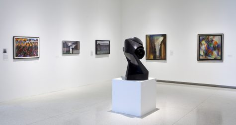 View of the exhibition art at the center.