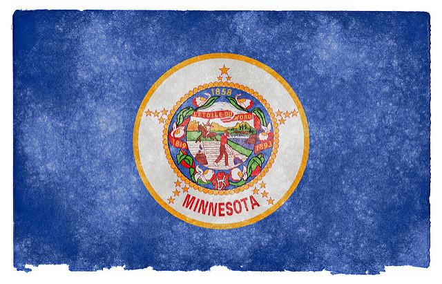 Minnesota's flag created to look vintage.