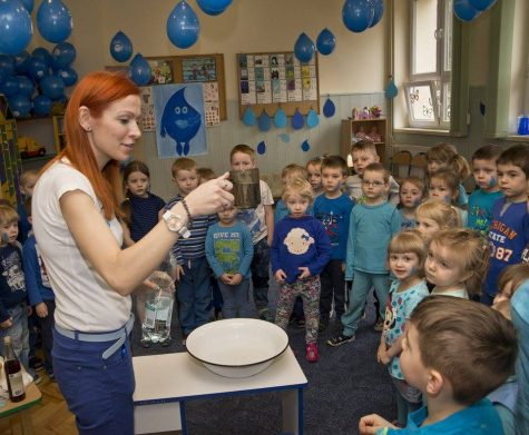 Children in Ukraine are taught about the importance of clean water during World Water Day.