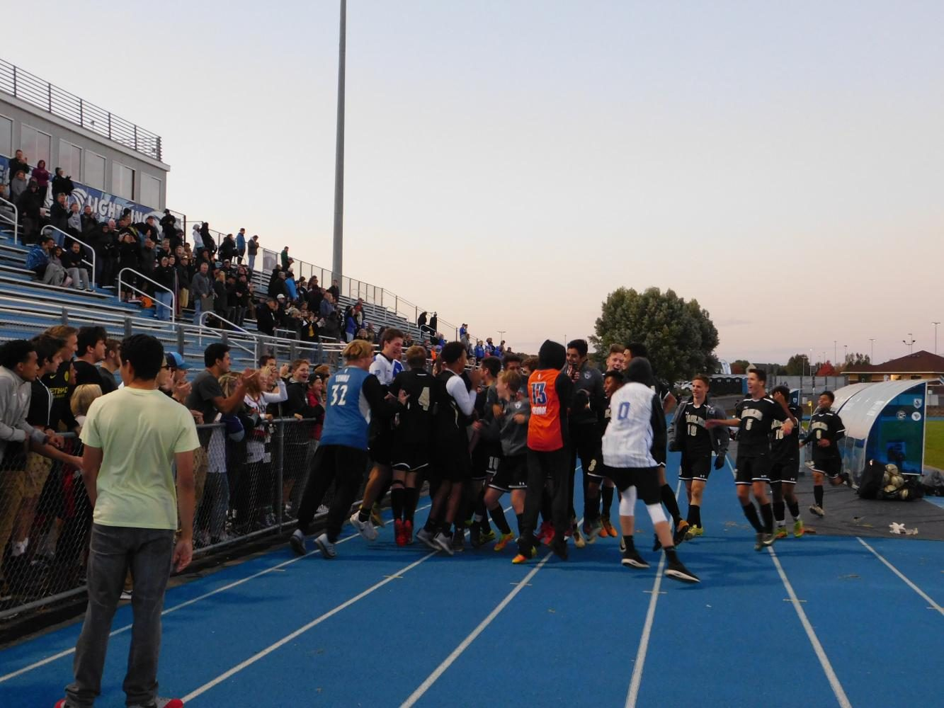 After the win, AVHS fans burst onto the field to congratulate the boys.