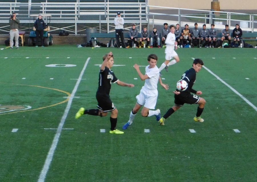 Grant Arnold gets in the middle of the action to reverse the play.