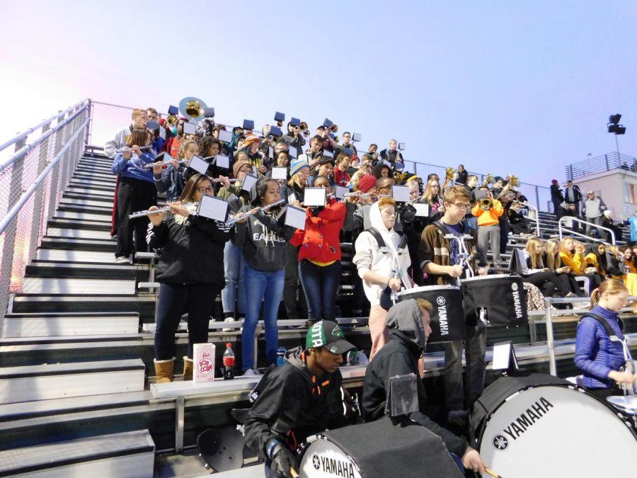 AVHS band sets the crowd on fire.