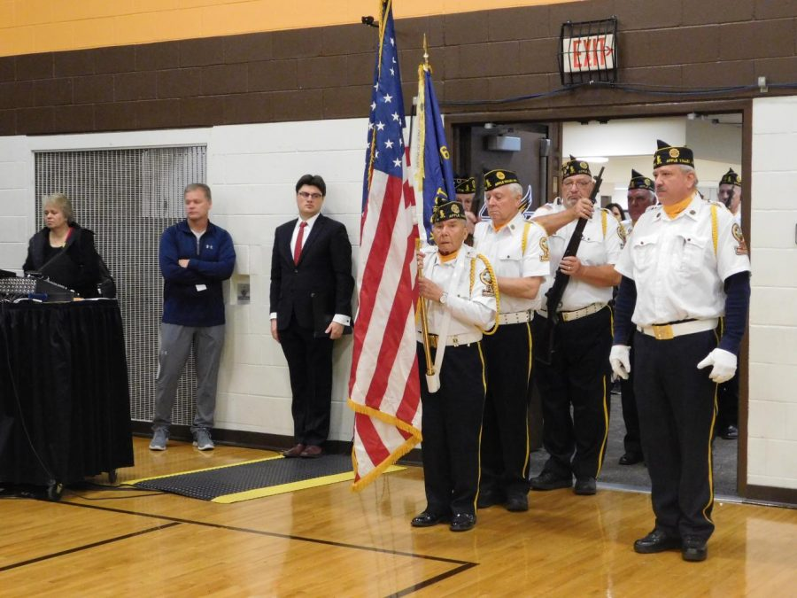 American Legion Post 1776 performs the Posting of the Colors.