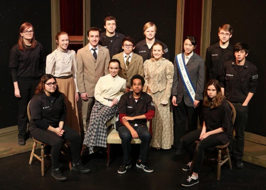 Students+involved+in+the+2018+AVHS+one+act+play