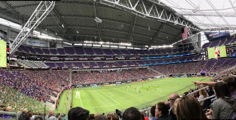 Around 20,000 fans came to watch the US Womens National Team play Switzerland at the US Bank Stadium.