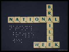 Braille: A form of written language for the visually impaired.