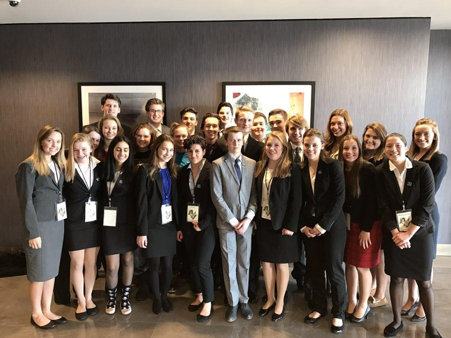 Apple Valleys strong and growing DECA chapter at districts.